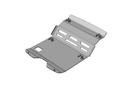 Proteção barras e carter aluminio AFN - Pajero V60