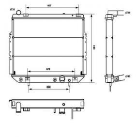 Radiador água e caixa - Jeep WJ 3.1TD