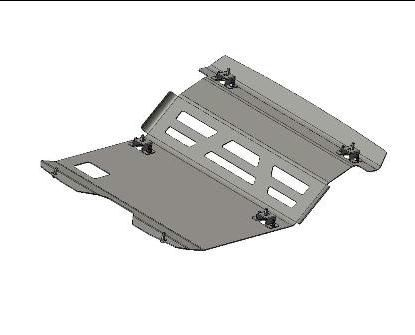 Skid Plate Frontal AFN Alumínio  -Pajero V60 02-03